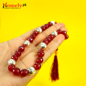 Red-Jade-With-Silver-Beads-image-5