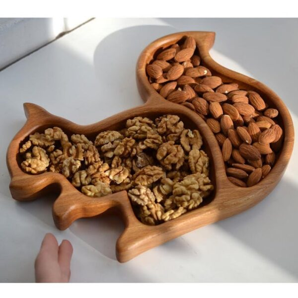 Squirrel Wooden Food Tray image 1
