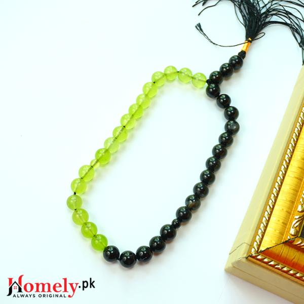 Black-and-Green-aqeeq-Stone-Tasbeeh-image-1