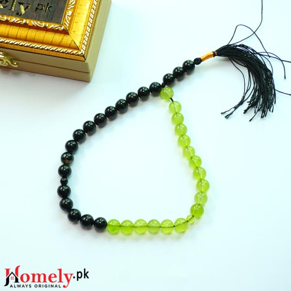 Black-and-Green-aqeeq-Stone-Tasbeeh-image-3