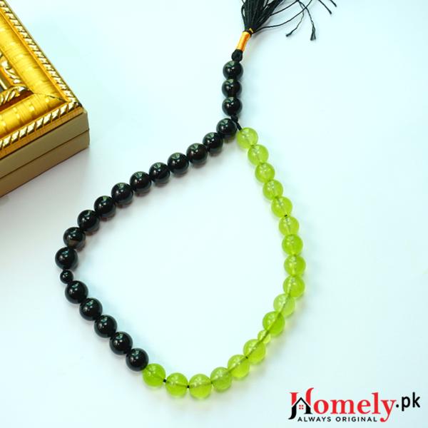 Black-and-Green-aqeeq-Stone-Tasbeeh-image-4