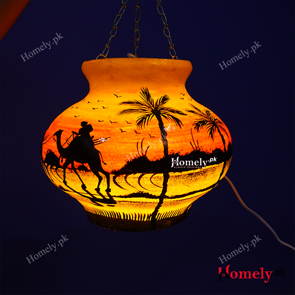 camel skin lamp