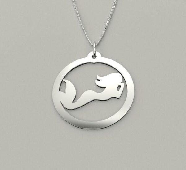 mermaid silver locket