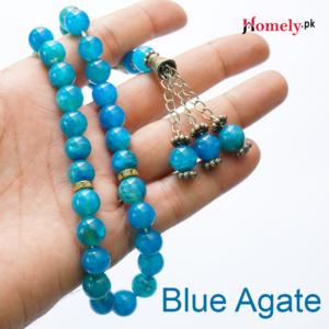 blue aqeeq blue agate rosary tasbeeh