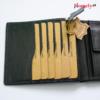 Black leather wallets for men