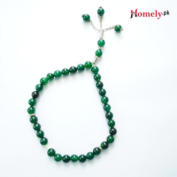 green agate rosary sabz aqeeq tasbeeh